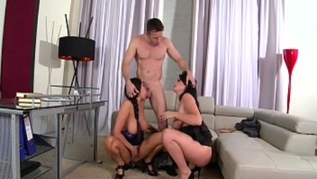Threesome with Sex Crazed Assistants Emma Leigh & Anissa Kate